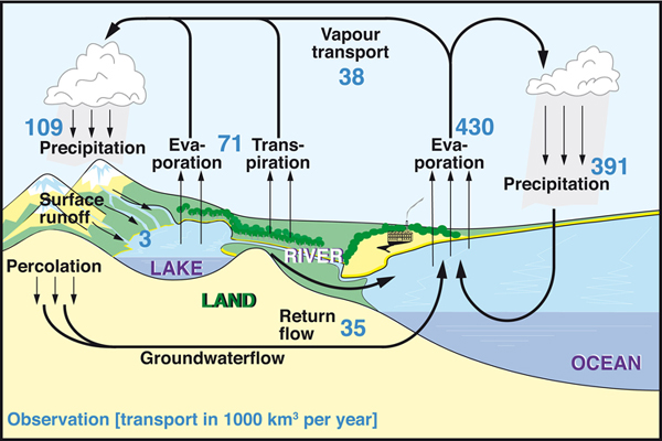 The global atmospheric water cycle iopscience the global water cycle following baumgartner and reichel 1975 annual values are in units of 103 km3 year 1 ccuart Image collections