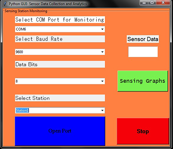 GUI-based software development for sensor data collection